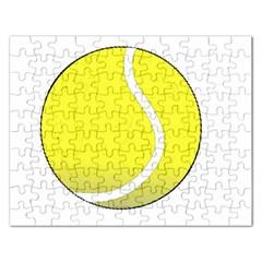 Tennis Ball Ball Sport Fitness Rectangular Jigsaw Puzzl by Nexatart