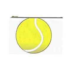 Tennis Ball Ball Sport Fitness Cosmetic Bag (large)  by Nexatart