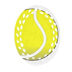 Tennis Ball Ball Sport Fitness Oval Filigree Ornament (two Sides) by Nexatart