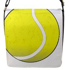 Tennis Ball Ball Sport Fitness Flap Messenger Bag (s) by Nexatart