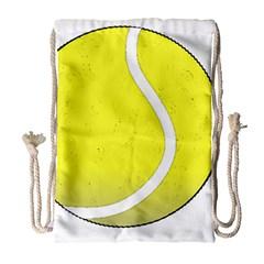 Tennis Ball Ball Sport Fitness Drawstring Bag (large) by Nexatart