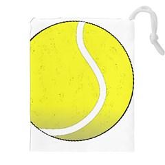 Tennis Ball Ball Sport Fitness Drawstring Pouches (xxl) by Nexatart