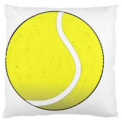 Tennis Ball Ball Sport Fitness Large Flano Cushion Case (one Side) by Nexatart