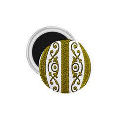 Gold Scroll Design Ornate Ornament 1 75  Magnets by Nexatart