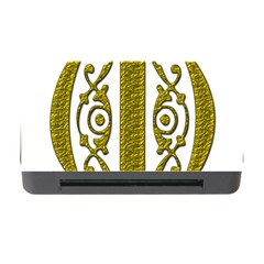 Gold Scroll Design Ornate Ornament Memory Card Reader With Cf by Nexatart