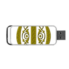 Gold Scroll Design Ornate Ornament Portable Usb Flash (two Sides) by Nexatart