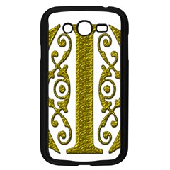 Gold Scroll Design Ornate Ornament Samsung Galaxy Grand Duos I9082 Case (black) by Nexatart
