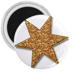 Star Glitter 3  Magnets by Nexatart