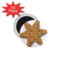 Star Glitter 1 75  Magnets (10 Pack)  by Nexatart