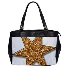 Star Glitter Office Handbags by Nexatart