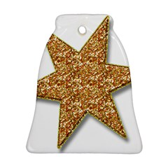 Star Glitter Bell Ornament (two Sides) by Nexatart