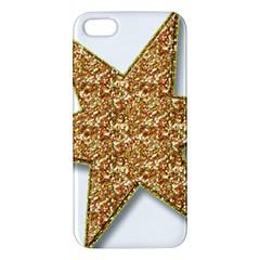 Star Glitter Iphone 5s/ Se Premium Hardshell Case by Nexatart
