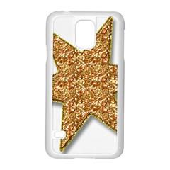 Star Glitter Samsung Galaxy S5 Case (white) by Nexatart