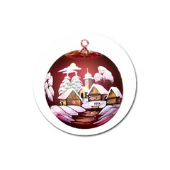 Christmas Decor Christmas Ornaments Magnet 3  (round) by Nexatart