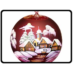 Christmas Decor Christmas Ornaments Double Sided Fleece Blanket (large)  by Nexatart