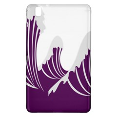 Waves Purple Wave Water Chevron Sea Beach Samsung Galaxy Tab Pro 8 4 Hardshell Case by Mariart