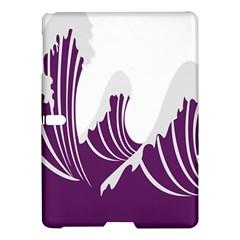Waves Purple Wave Water Chevron Sea Beach Samsung Galaxy Tab S (10 5 ) Hardshell Case  by Mariart