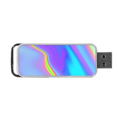 Aurora Color Rainbow Space Blue Sky Purple Yellow Portable Usb Flash (two Sides) by Mariart