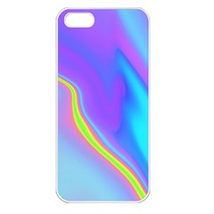 Aurora Color Rainbow Space Blue Sky Purple Yellow Apple Iphone 5 Seamless Case (white) by Mariart
