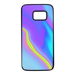 Aurora Color Rainbow Space Blue Sky Purple Yellow Samsung Galaxy S7 Black Seamless Case