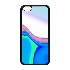Aurora Color Rainbow Space Blue Sky Purple Yellow Green Apple Iphone 5c Seamless Case (black) by Mariart