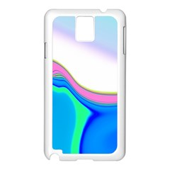 Aurora Color Rainbow Space Blue Sky Purple Yellow Green Samsung Galaxy Note 3 N9005 Case (white) by Mariart