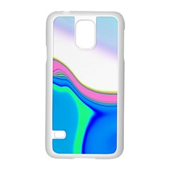 Aurora Color Rainbow Space Blue Sky Purple Yellow Green Samsung Galaxy S5 Case (white) by Mariart