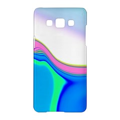 Aurora Color Rainbow Space Blue Sky Purple Yellow Green Samsung Galaxy A5 Hardshell Case  by Mariart