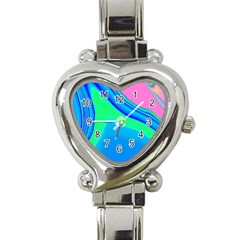 Aurora Color Rainbow Space Blue Sky Heart Italian Charm Watch by Mariart