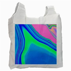 Aurora Color Rainbow Space Blue Sky Recycle Bag (one Side) by Mariart