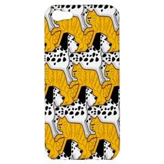 Animals Cat Dog Dalmation Apple Iphone 5 Hardshell Case by Mariart