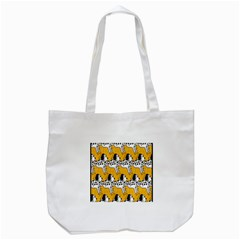 Animals Cat Dog Dalmation Tote Bag (white) by Mariart