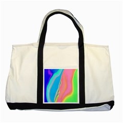 Aurora Color Rainbow Space Blue Sky Purple Yellow Green Pink Two Tone Tote Bag by Mariart