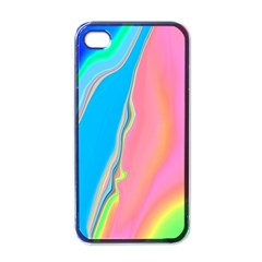 Aurora Color Rainbow Space Blue Sky Purple Yellow Green Pink Apple Iphone 4 Case (black) by Mariart