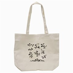 Black Leaf Tatto Tote Bag (cream) by Mariart