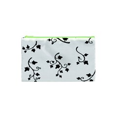 Black Leaf Tatto Cosmetic Bag (xs) by Mariart