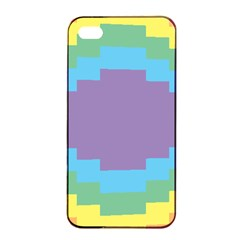 Carmigender Flags Rainbow Apple Iphone 4/4s Seamless Case (black) by Mariart