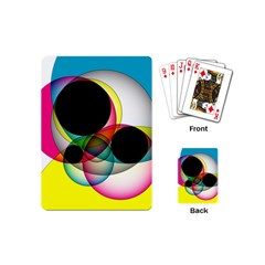 Apollonius Color Multi Circle Polkadot Playing Cards (mini)  by Mariart