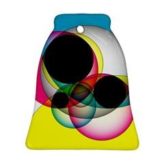 Apollonius Color Multi Circle Polkadot Ornament (bell) by Mariart