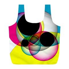 Apollonius Color Multi Circle Polkadot Full Print Recycle Bags (L)  by Mariart
