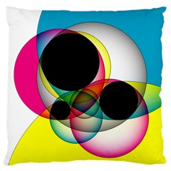 Apollonius Color Multi Circle Polkadot Large Flano Cushion Case (one Side) by Mariart