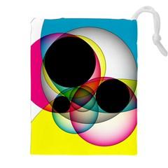 Apollonius Color Multi Circle Polkadot Drawstring Pouches (xxl) by Mariart