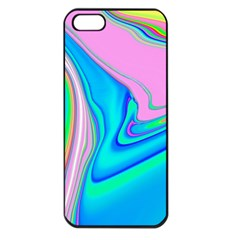Aurora Color Rainbow Space Blue Sky Purple Yellow Green Pink Red Apple Iphone 5 Seamless Case (black) by Mariart