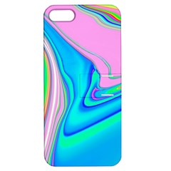 Aurora Color Rainbow Space Blue Sky Purple Yellow Green Pink Red Apple Iphone 5 Hardshell Case With Stand by Mariart