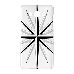 Compase Star Rose Black White Samsung Galaxy A5 Hardshell Case  by Mariart