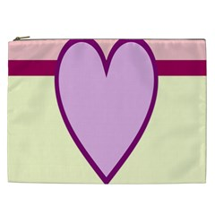 Cute Gender Gendercute Flags Love Heart Line Valentine Cosmetic Bag (xxl)  by Mariart