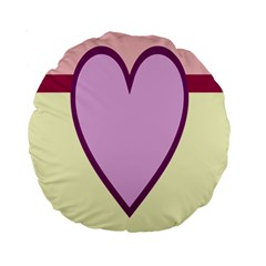 Cute Gender Gendercute Flags Love Heart Line Valentine Standard 15  Premium Round Cushions by Mariart