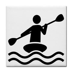 Cropped Kayak Graphic Race Paddle Black Water Sea Wave Beach Face Towel by Mariart