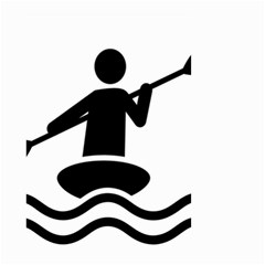 Cropped Kayak Graphic Race Paddle Black Water Sea Wave Beach Small Garden Flag (two Sides) by Mariart