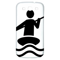 Cropped Kayak Graphic Race Paddle Black Water Sea Wave Beach Samsung Galaxy S3 S Iii Classic Hardshell Back Case by Mariart